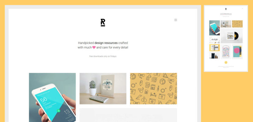 Reopen is a free creative portfolio website template with a unique and attention-grabbing web design. It sports a framed layout which is clean and straightforward.