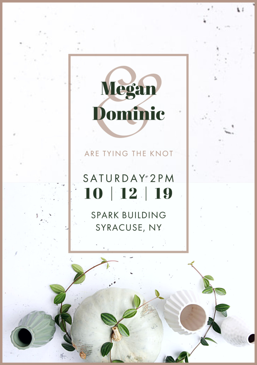 Wedding Invitation Templates - Printable Editable