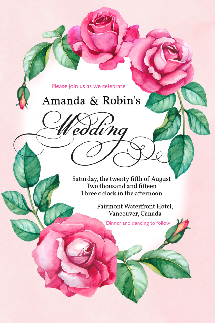 Editable Wedding Invitation Template Printable And Editable PSD