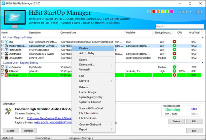 HiBit Startup Manager