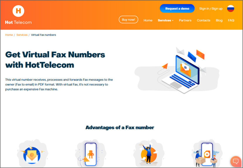 Hot Telecom Virtual Fax Numbers