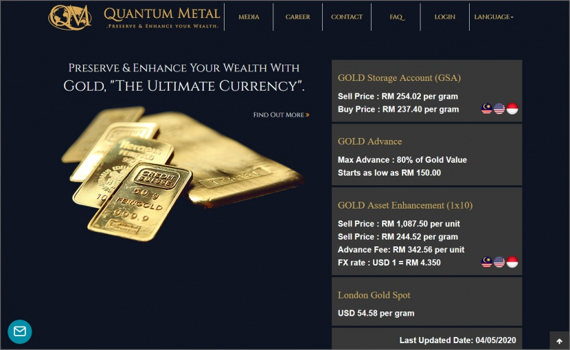 Quantum Metal Buy Real Physical Gold Bars