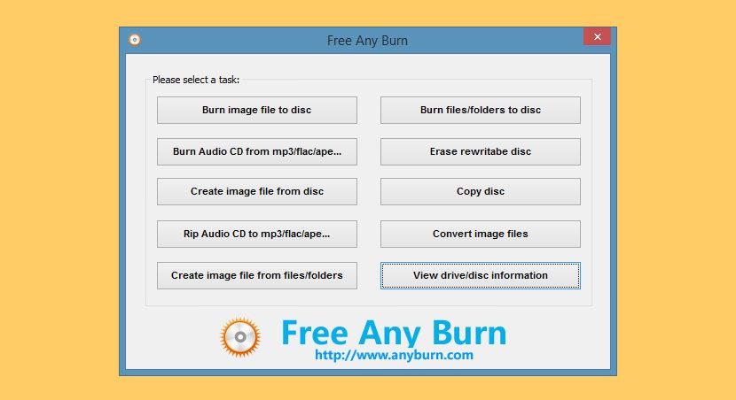 AnyBurn free dvd cd burner