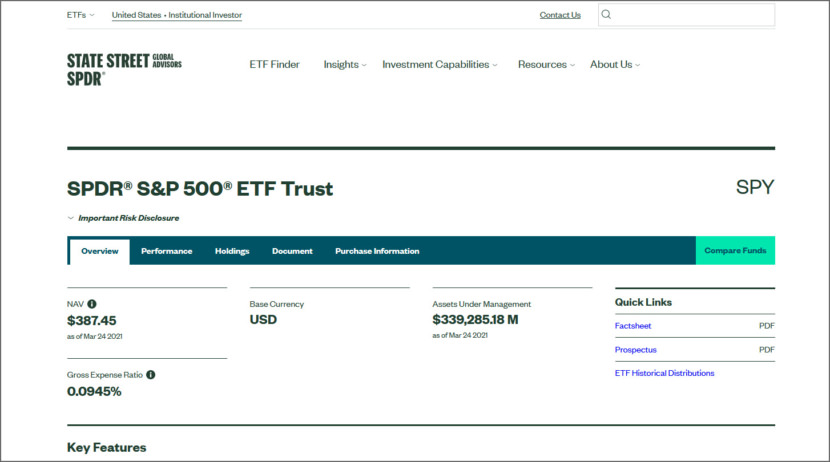 S&P 500 fund